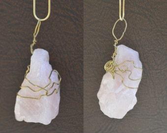 Rose Quartz Gem Necklace