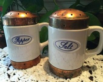 Baker Hart and Stuart Ceramic Salt and Pepper Shakers, Vintage Salt and Pepper Shakers