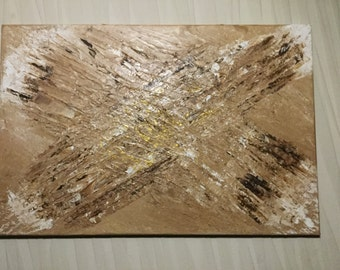 Eagles Feathers. Heavily textured original acrylic painting.