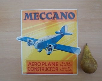 Meccano Point of Sale Card - Aeroplane Constructor