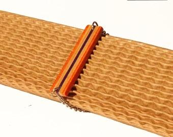 Skate & steel bracelet
