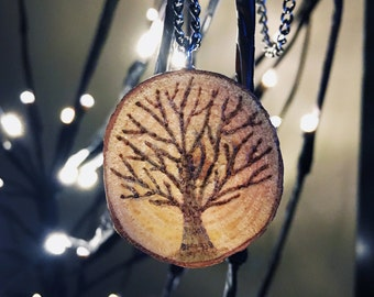 Wood Slice Necklace