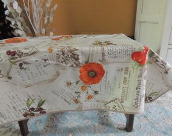 Oilcloth Tablecloth Etsy