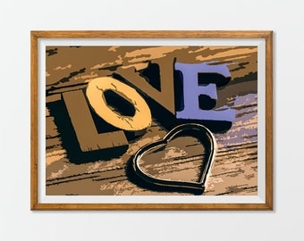 LOVE Print Poster Room Decor Wall Art - Love Prints Posters