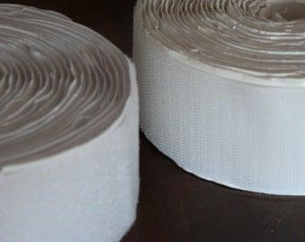 6m of Brand New White Velcro/Hook & Eye Fastening Material (5 cm wide)