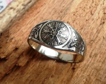 Ring with Helm of Awe. Viking ring.
