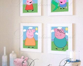 "Printable decorative paper ""Peppa Pig"""