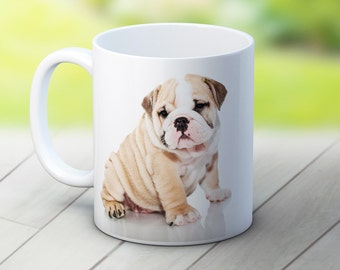 English Bulldog Dog Puppy - High Quality Ceramic Coffee Tea Mug