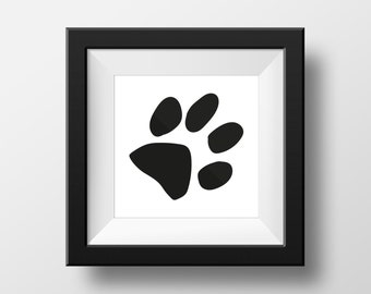 Black & White dog paw