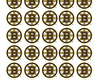30 Boston Bruins Hockey Stickers