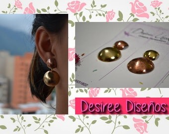 Two-color circles earrings