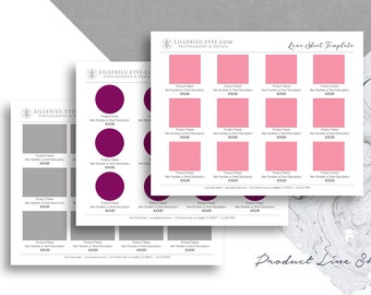 sales catalog template - line sheet word template wholesale catalog simple elegant