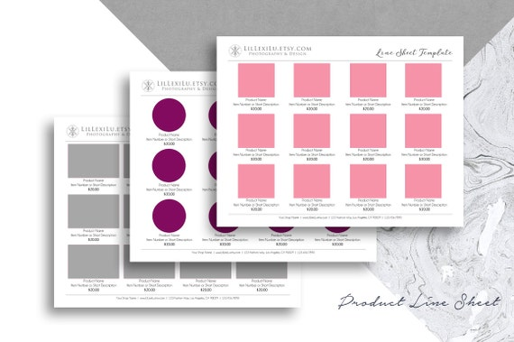 line sheet photoshop template wholesale catalog clean. Black Bedroom Furniture Sets. Home Design Ideas