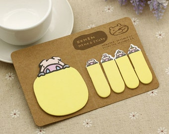 Pig Sticky Notes / Cute Sticky Notes / Cute Stationery / Kawaii Stationery / Office Supplies / Memo Pads / Stationery / Sticky Tab