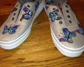 Buterfly Handpainted Shoes