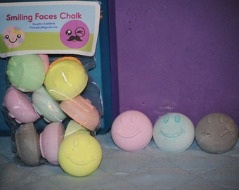 Smiling faces 10 pc sidewalk chalk for kids gifts, party favors, and fun