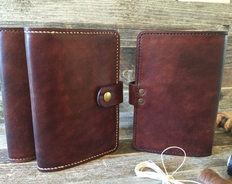 Leather Cover for Moleskine Cahier Notebook~Passport~Traveler~Journal Size 3.5 x 5.5~Antiqued~Patina~Leather~Personalized~Refillable~brown