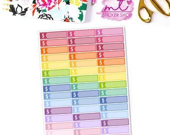 Money Little Things/Labels    Vertical    44 Planner Stickers    Erin Condren Life Planner