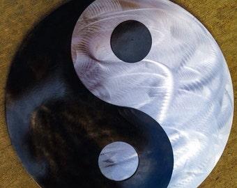 """18"""" steel Yin Yang"""