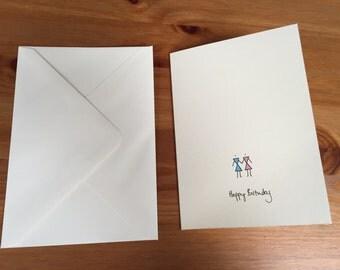 Man & Wife Birthday card