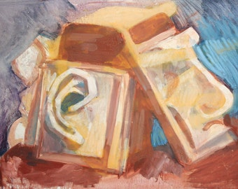 European abstract oil painting still life