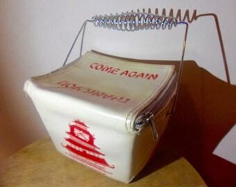 Vintage Chinese novelty takeaway handbag
