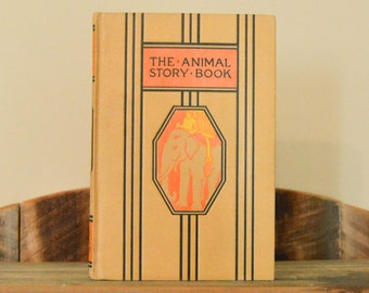 The Animal Story Book; Young Folks Library; 1940s; Children's Stories; Vintage Book; Young Adult; Classic Literature