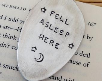 Fell Asleep Here Vintage Spoon Bookmark Upcycled Whimsical Love Moon Stars Fairy Tale Book Bookworm Graduation