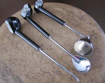 Golf Bar Set, Bar Tool Set, Vintage Bar Set, Mixing Bar Spoon, Jigger Bar Tool, Pick Bar Tool