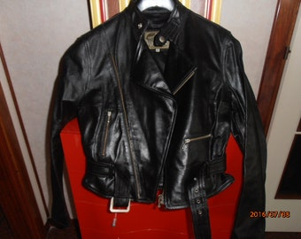 70's does 40's leather motorcycle Jacket