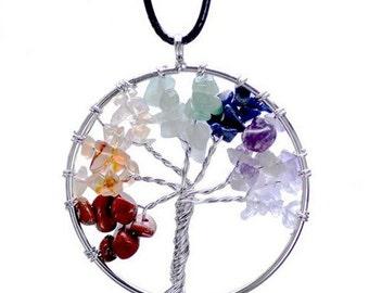 Stone Tree of Life Pendent