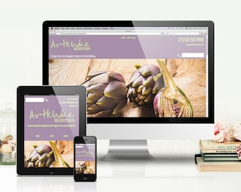 Artichoke Website Template for WebPlus X8