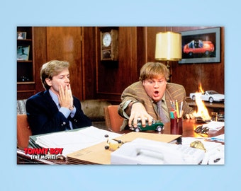 "Tommy Boy Poster, ""We're Burning Alive!"", Chris Farley, Officially Licensed, Tommy Boy, Movie Poster"