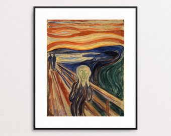 The Scream - Edvard Munch Print - The Scream Wall Art - Abstract Art - Halloween Decor - Halloween Wall Art - Free Shipping USA