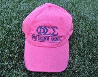 Phi Sigma Sigma Sorority Embroidered Hat