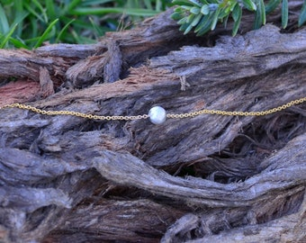Rhodium Plated Ball with Gold Chain Bracelet