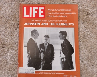 LIFE Magazine August 7, 1970, Johnson and the Kennedys, an intimate report by Kenneth O'Donnell
