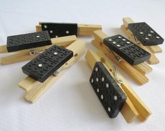 Domino wooden pegs , craft pegs, decor