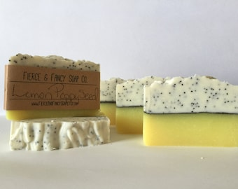 LEMON POPPYSEED SOAP | Handmade | Cold Process Soap | *Fancy*