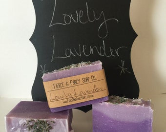LOVELY LAVENDER SOAP | Handmade | Cold Process Soap | Soothing Scent | *Fancy*