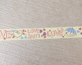 Yellow Love washi tape