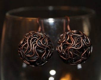 Wire Ball Earrings