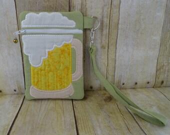 Wristlet Bag - Mug of Beer