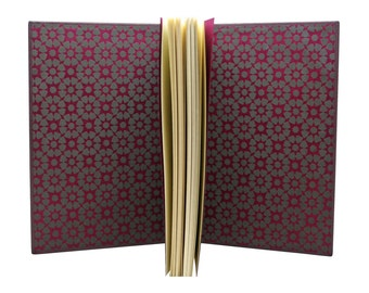 Golden plum leather book