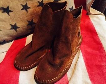 Vintage Johnny Walker leather child's moccasins