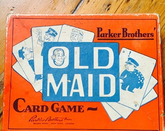 Vintage Parker Brothers Old Maid Card Game