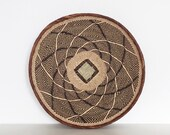 "Binga basket | African basket 12,6"" | Woven basket | Fair trade | Zimbabwe | Ethnic pattern | Handmade | Ethnic home decor | Wall hanging"
