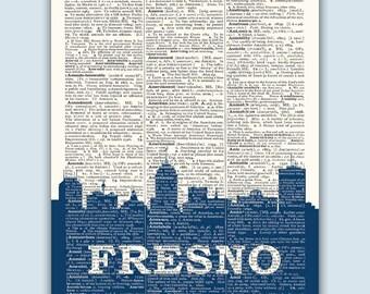 Fresno Skyline, Fresno Poster, Fresno Decor, Fresno Print, Fresno  Wall Art, Fresno Gift, Fresno Wall Decor, Fresno California