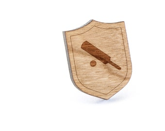 Cricket Lapel Pin, Wooden Pin, Wooden Lapel, Gift For Him or Her, Wedding Gifts, Groomsman Gifts, and Personalized