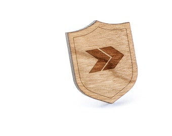 Chevron Lapel Pin, Wooden Pin, Wooden Lapel, Gift For Him or Her, Wedding Gifts, Groomsman Gifts, and Personalized